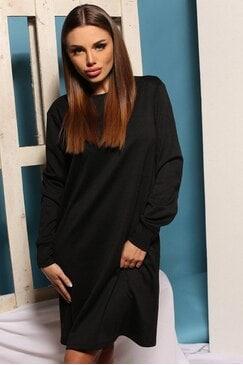 Стилна черна рокля със свободен силует JESSICA BLACK