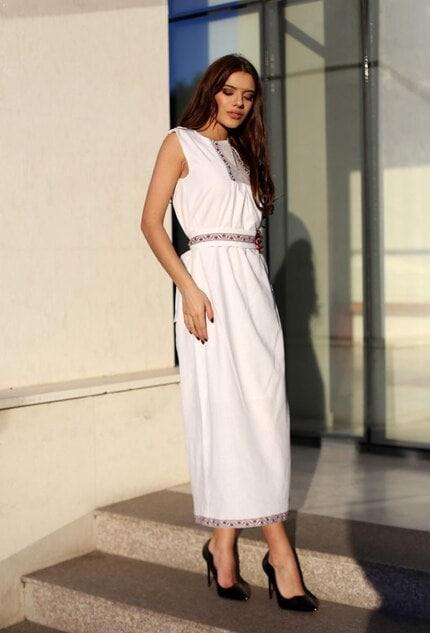 Дълга дамска рокля с шевица BORIANA PREMIUM