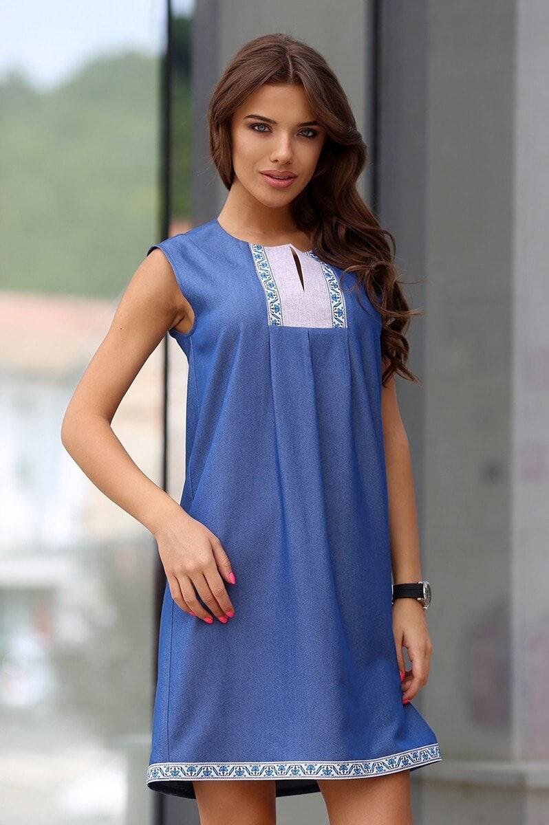 14c3d856f66 Стилна дамска рокля BORIANA DENIM • Подиум • Дамска мода онлайн