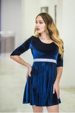 Официална дамска синя рокля BLUE SHINY SKY