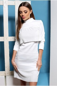 Стилна бяла рокля ELIZA