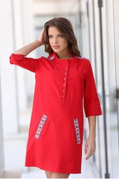 Стилна рокля с шевици BOJANA