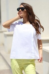 Бяла дамска памучна блуза ARTEMIA