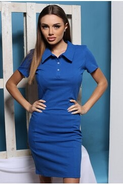 Стилна синя рокля IVANA BLUE