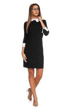 Черна дамска рокля SISI
