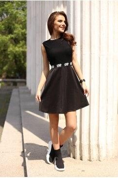 Дамска черна mini рокля LOVIX