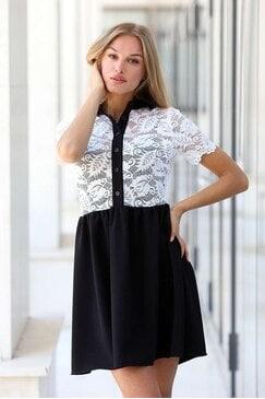 Ежедневна рокля с дантела MOORE