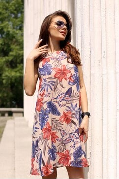 Лятна дамска рокля от шифон MARIA