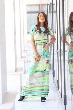 Дълга дамска лятна рокля OCEANA