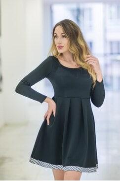 Черна официална рокля PEARL LUX