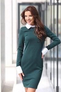 Стилна дамска рокля ARTERY OLIVE