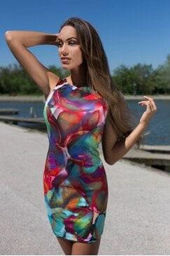 Елегантна рокля с дизайнерски принт FELICHITA