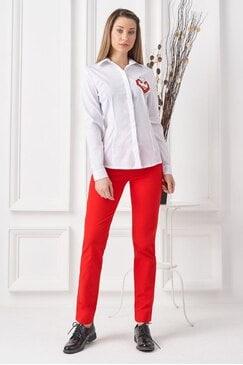 Спортен стилен дамски панталон NATALIE RED