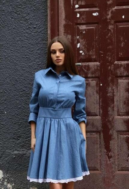 Кокетна дънкова рокля PAMELA