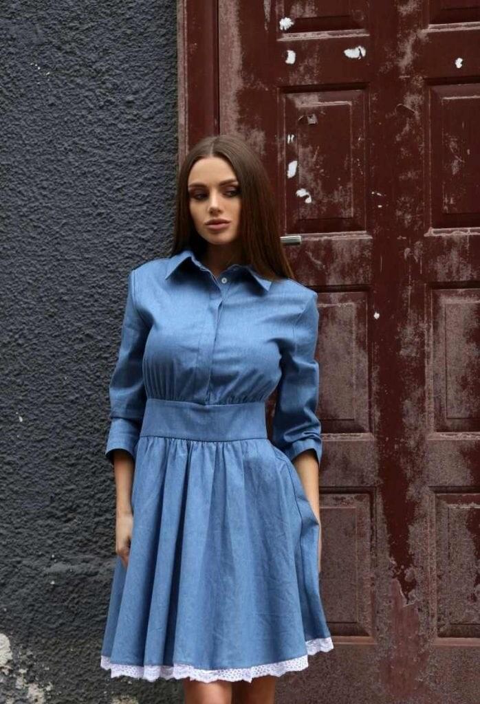 48fffbdc925 Кокетна дънкова рокля PAMELA • Подиум • Дамска мода онлайн