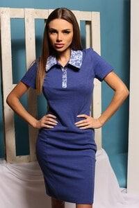 Ежедневна синя рокля ALENA BLUE