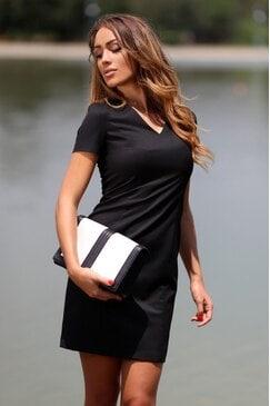 Черна вталена рокля PREMIUM