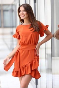 Ежедневна ракроена лятна рокля CREAM
