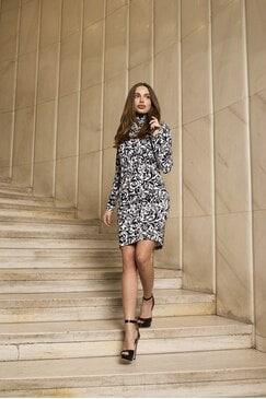 Стилна рокля поло Estefania