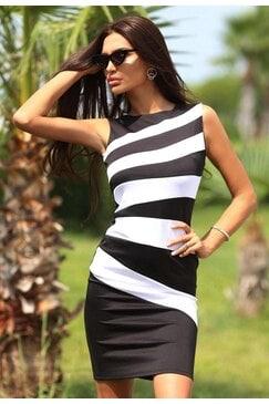 Елегантна рокля BLACK&WHITE