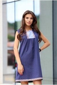 Стилна дамска рокля BORIANA BLUE