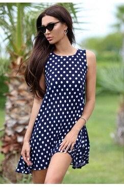 Стилна рокля PRETTY DOTS