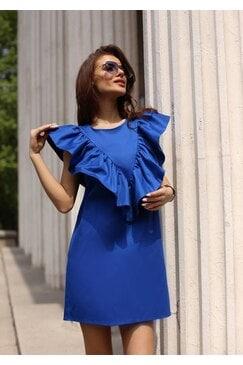 Синя ежедневна дамска рокля BLUE RIVER