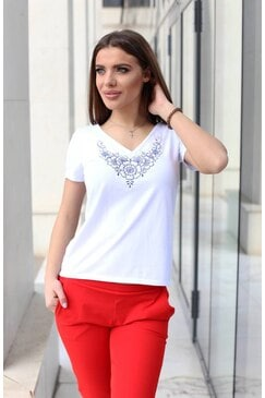 Памучна тениска с къс ръкав KALINA