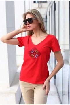 Дамска тениска с остро деколте KINA