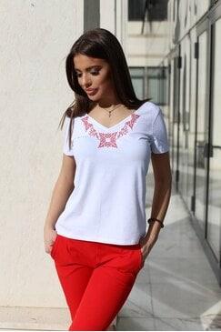 Тениска с бродерия LENA