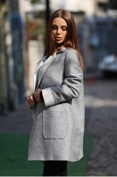Стилно палто със свободен силует ILONA