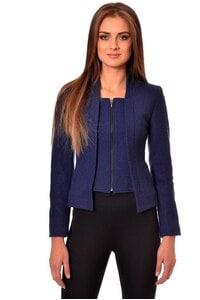 Стилно синьо сако