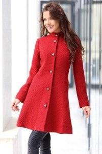Стилно червено палто RADA