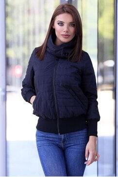 Зимно дамско черно яке BLOOM