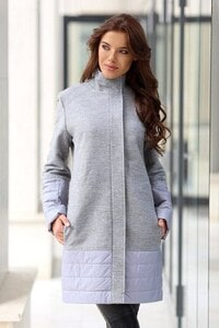 Елегантно сиво палто NATI