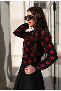 Елегантно дизайнерско сако RED ROSE