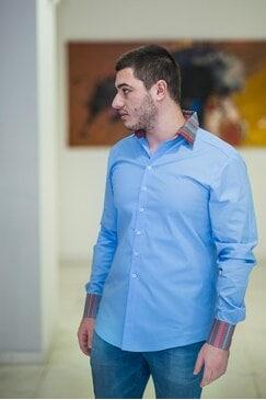 Елегатна синя риза SKY