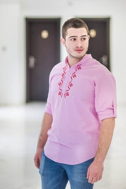 Стилнa розова мъжка риза ALEX PINK