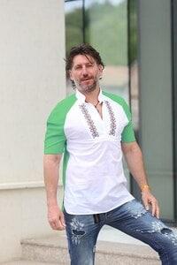 Мъжка риза с бродерия SLAVI GREEN