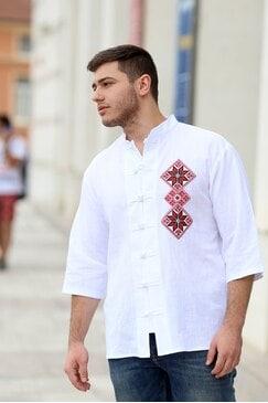 Мъжка риза с бродерия YASEN
