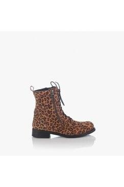 Дамски кожени боти с леопардов принт Erana