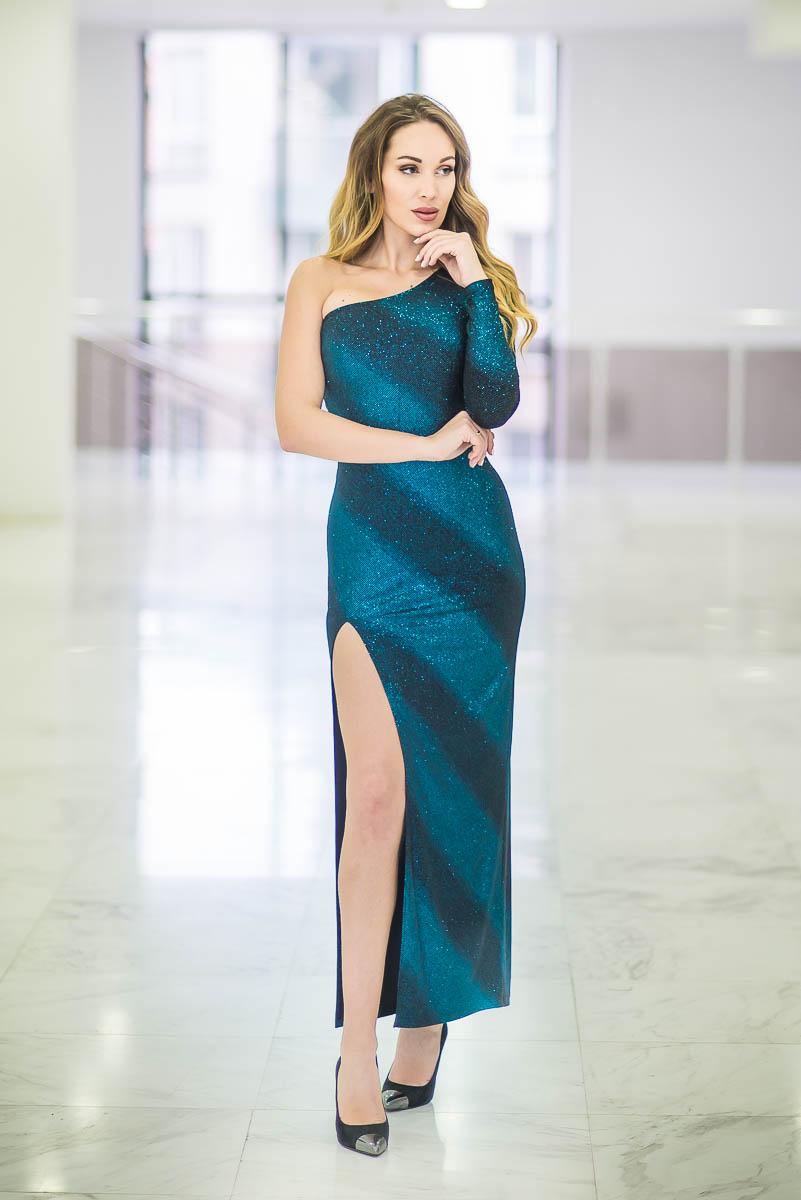 Вечерна дамска рокля BLUE WISH
